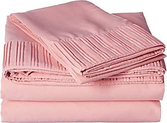 Chic Home Pleated Microfiber Sheet, Twin, Rose