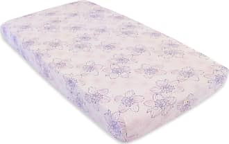 Burt's Bees Baby Abstract Blackberry Floral Print Organic Cotton BEESNUG Fitted Crib Sheet Dawn One Size