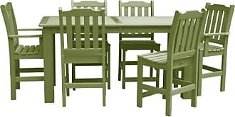 highwood USA Lehigh Recycled Plastic 7 Piece Rectangular Counter Height Patio Dining Set