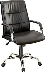 FURNITURE OF AMERICA Axis Upholstered Pneumatic Adjustable Office Chair, Black