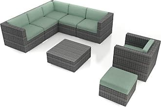 Harmonia Living Outdoor Harmonia Living District 8 Piece Patio Sectional Set - HL-DIS-TS-8SEC-SP