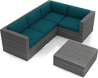 Harmonia Living Outdoor Harmonia Living District 5 Piece Patio Sectional Set - HL-DIS-TS-5SEC-PC