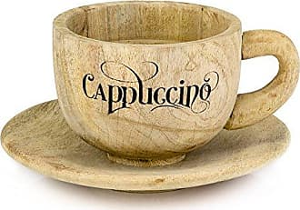 Modern Day Accents 7757 Taza Wood Cappuccino Cup & Saucer