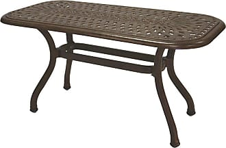 DARLEE Outdoor Darlee Series 60 Cast Aluminum 21 x 42 Rectangular Coffee Patio Table - 201060-B-AB