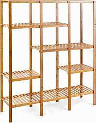 Costway Multifunctional Bamboo Shelf Storage Organizer Rack