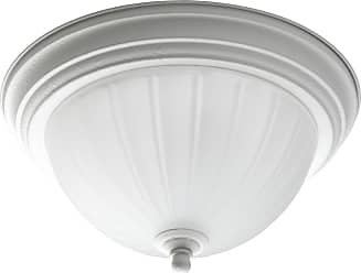 PROGRESS P3816-30 One-light close-to-ceiling in White finish with etched ribbed glass