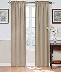 Ellery Homestyles ECLIPSE Blackout Curtains for Bedroom - Solid 54 x 63 Insulated Darkening Single Panel Rod Pocket Window Treatment Living Room, Taupe