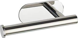Acero Inoxidable, Plateado Mate, 5, 5 x 6 x 7 cm Wenko 23787100 Vieste Duo-Gancho Doble para Ducha con 4 Posibilidades para Colgar