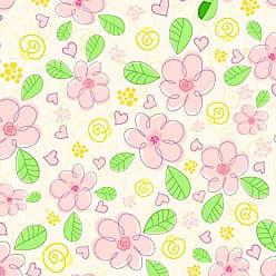 Lar Adesivos Papel de Parede Infantil Floral Adesivo Flores Menina N4189