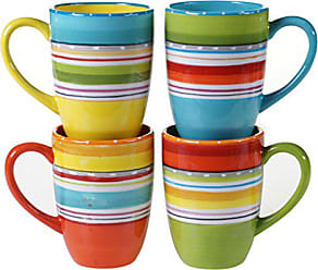Certified International 25628SET/4 Mariachi Mugs (Set of 4), 20 oz, Multicolor