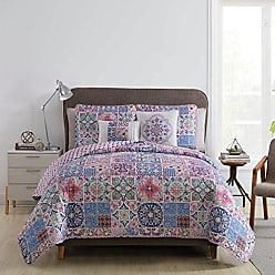 VCNY Home VCNY Home Azure 4 Piece Reversible Bedding Quilt Set, Twin X-large, Pink