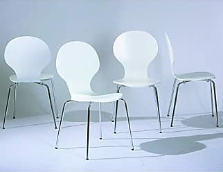 Inter Link SAS Conjunto 4 Cadeiras Formici Inter Link Branco