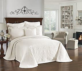 Ellery Homestyles HISTORIC CHARLESTON Bedspreads Coverlet - King Charles Collection 120 x 114 Size 100% Cotton Oversized Matelasse Bed Spread, King/Cal King, Ivory