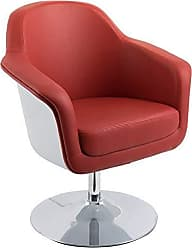 CorLiving DLN-150-C Mod Collection Accent Chair, Red/White