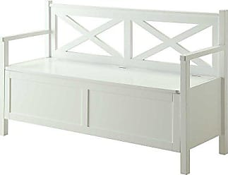 Convenience Concepts Oxford Storage Bench, White