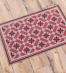 Bungalow Flooring Annie Waterproof Non-Skid Decorative Floor Cloth Mat, 47 x 71