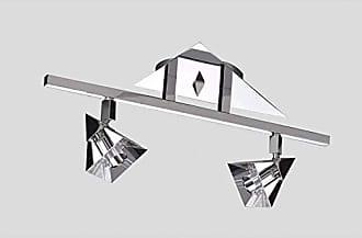 JD Molina Spot Sobrepor Pirâmide 2 Lâmpadas JD Molina Cromado