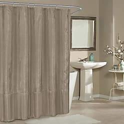 Duck River Textile Belle Metallic Pin Dot Mildew Resistant Fabric Shower Curtain Liner For Bathroom Waterproof | Water Repellent & Antibacterial - Assorted Colors - (70 X 72 Inch - Parchment)