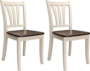 CorLiving DSH-370-C Dillon Dining Chairs Dark Brown, Cream