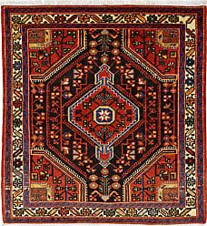 Nain Trading Persian Tuyserkan Rug 38x35 Square Dark Grey/Orange (Hand-Knotted, Iran/Persia, Wool)