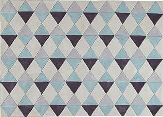 Agreable Maisons Du Monde Tapis à Poils Courts Bleu Motifs Graphiques 140x200