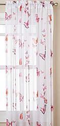 Ben&Jonah Ben & Jonah Simple Elegance Semi-Sheer Single Fluttering Butterfly Curtain Panel-Pink (54 W x 63 L)