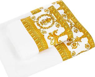 Versace Barocco Robe Towel White Gold Face Cloth