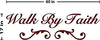 The Decal Guru Walk by Faith Wall Decal (Burgundy, 17 (H) X 60 (W))