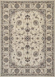 Couristan Everest Collection Rosetta Rug, 2 by 3-Feet, Ivory