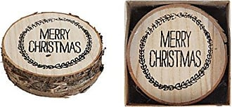 Creative Co-op 4Merry Christmas Wood Coasters