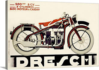 Great Big Canvas Dresch 500 CC Motorcycle 1935 Vintage Poster Canvas Wall Art Print - AH3671-FIN_24_24X16_NONE