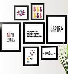 Los Quadros Kit de Quadros Decorativos 7 Peças Não Sou obrigada Los Quadros Preto