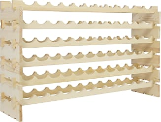 Best Choice Products 6-Tier Wood Wine Rack for 72 Bottles - Natural