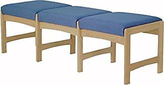 Wooden Mallet DW5-3 3-Seat Bench, Light Oak/Cabernet Burgundy