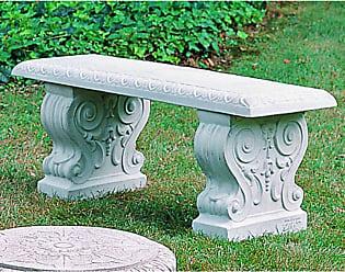 Campania International Outdoor Campania International Traditional Straight Cast Stone Backless Garden Bench French Limestone - BE-02-FL