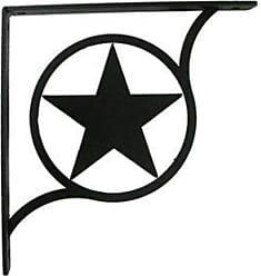 Village Wrought Iron 5.25 Inch Western Star Shelf Brackets Small