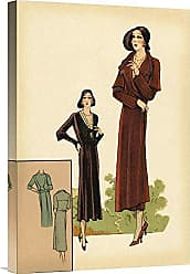 Bentley Global Arts Global Gallery Budget GCS-379277-22-142 Vintage Fashion Modeles Originaur: Burgundy Chic Gallery Wrap Giclee on Canvas Wall Art Print