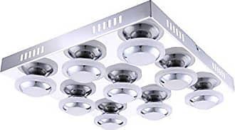 Chrome L:48,0cm Blanc Corps: metal L:40,0cm 1 x LED,SMD,24,0 Watt,3000K,2160 Lm Plafonnier Corland incl Acryl H:38,0cm IP20,Convient pour variateur externe TRIO
