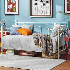 Weston Home Ossett Antique Finish Metal Daybed with Shell Motif - 68E647BW-A[BD]