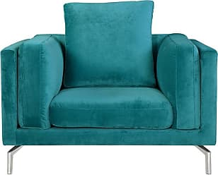 Kardiel Basil Loft Chair Peacock Plush Velvet - BASIL1-PEACOCK