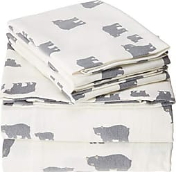 Revman International Eddie Bauer Bear Family Flannel Sheet Set, Full, Gray