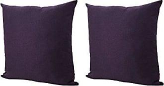 Christopher Knight Home 301616 Soyala Soft Plush Fabric Throw Pillows (Set of 2) (Plum)