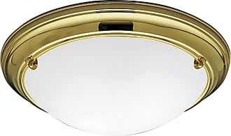 PROGRESS P3562-10EB Two-light close-to-ceiling in Polished Brass finish with satin white glass
