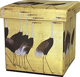 Oriental Furniture ORIENTAL Furniture March of The Cranes Storage Ottoman