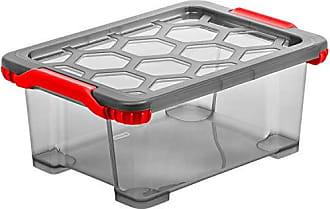 weiss//rot, Kunststoff BPA-frei Rotho Micro Clever Teller mit 3 Unterteilungen und Deckel geeignet f/ür die Mikrowelle 25,5 x 23,5 x 5 cm
