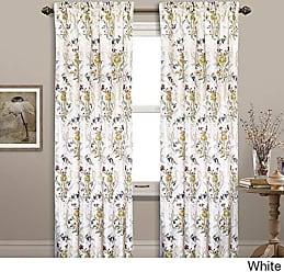 United Curtain Jewel Woven Window Panel, 54 x 84, White