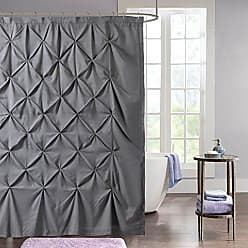 Sweet Home Collection PINTCK-SC-Gry Fabric Shower Curtain, 70 x 72, Gray