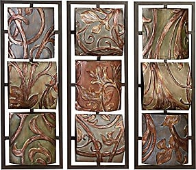 Deco 79 3 Assorted Colors Can be Put in Waiting Area Metal Wall Décor 32H x 12W