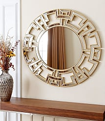 Abbyson Pierre Gold Round Wall Mirror (Wood - Gold - Glam/Bohemian & Eclectic/Modern & Contemporary)