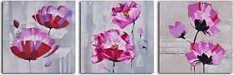 Omax Decor Pretty in Pink Triptych 3-Piece Canvas Wall Art Set - A 4574